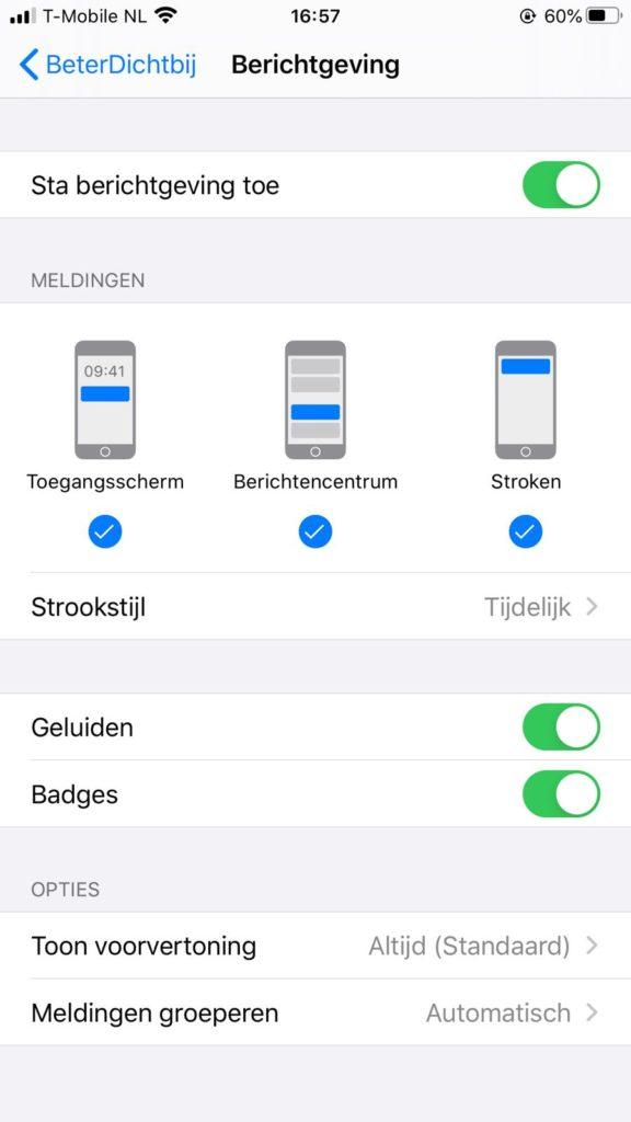 BeterDichtbij_iOS meldingen
